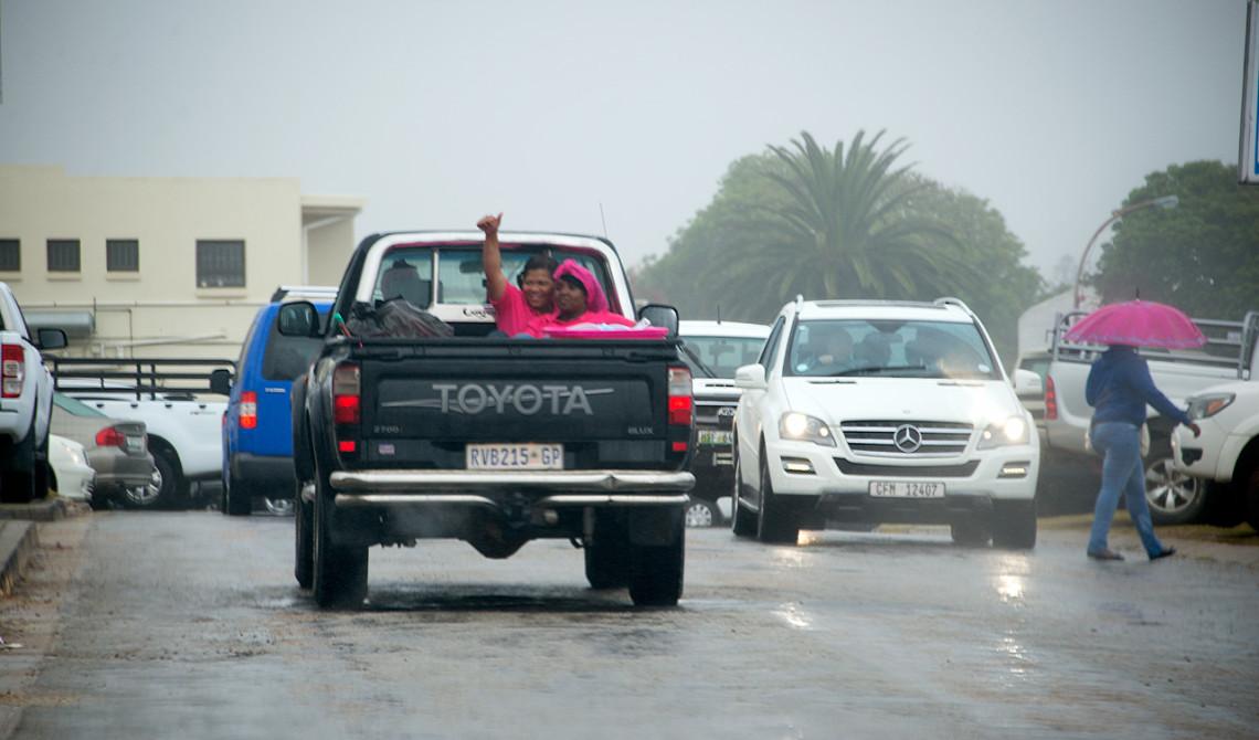 Regnig dag i JeffreysBaai