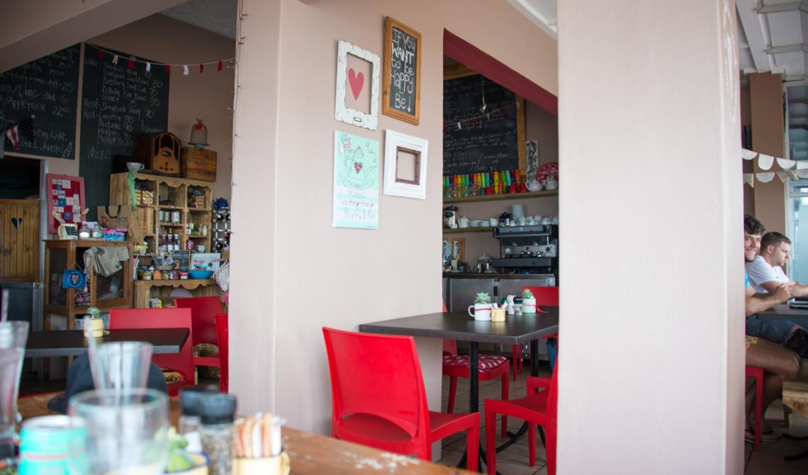 Mycket trevligt café och restaurang - Tasty table i JeffreysBaai, Jeffreys Bay