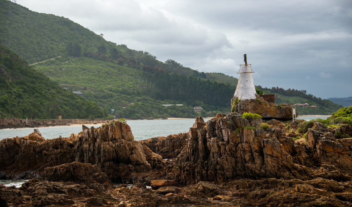 Knysna Beacon vid Knysna heads
