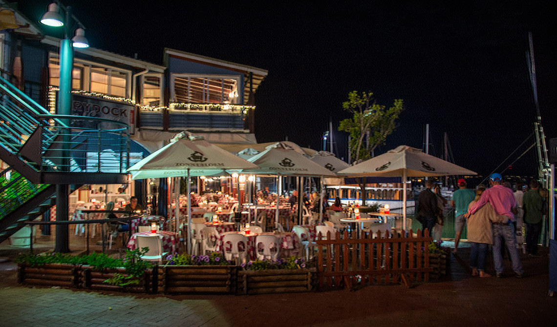 The Drydock Restaurant vid Waterfront i Knysna