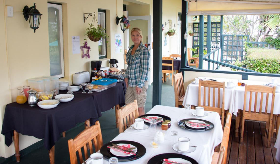 Frukost på Wayside Inn, Knysna