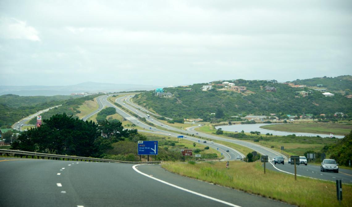 Vägen längs Garden Route i Sydafrika