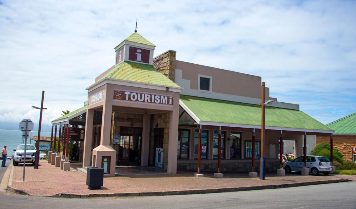 Turistinformation i Mossel Bay, längs vår resa utmed Garden Route i Sydafrika