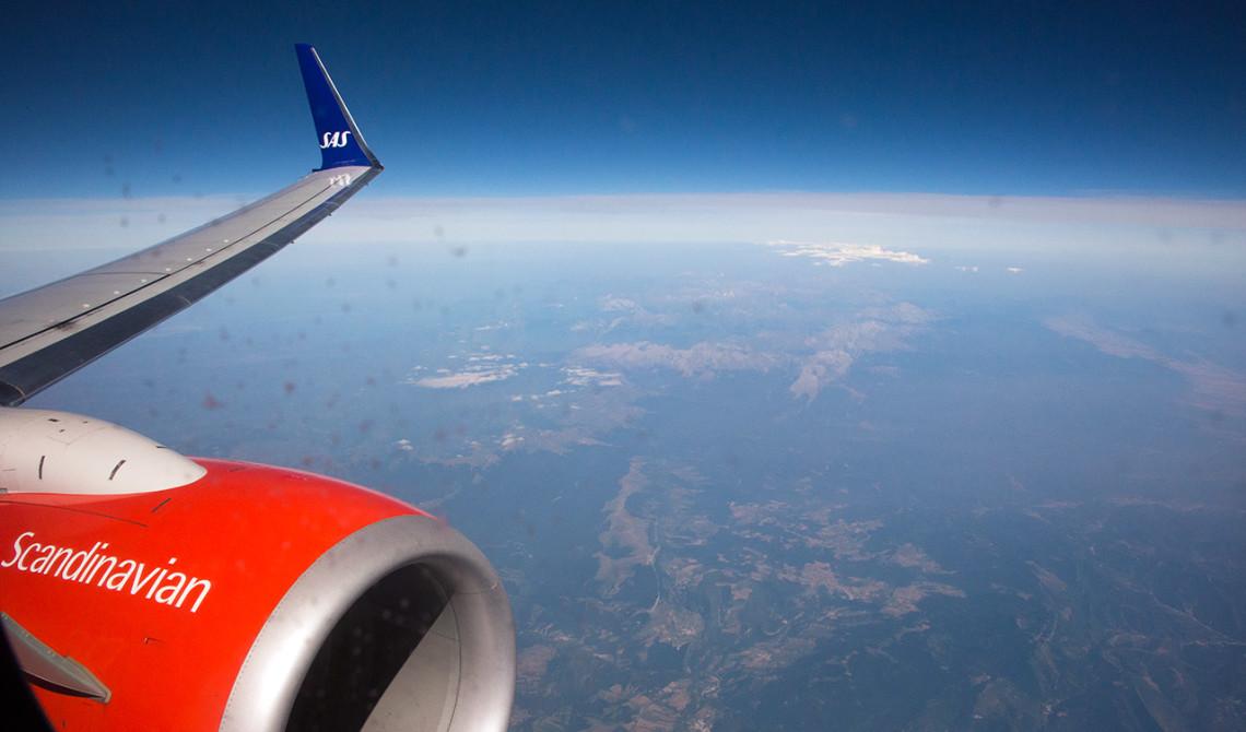 SAS Flight till Malaga
