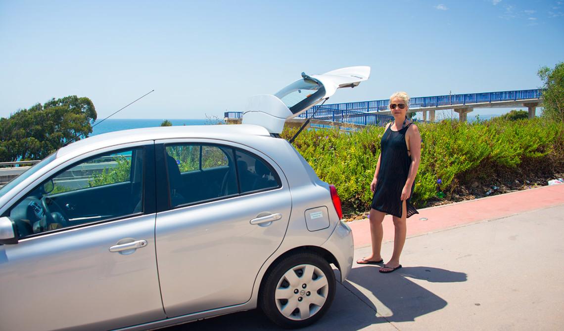 Vi parkerar bilen vid Punta Chullera