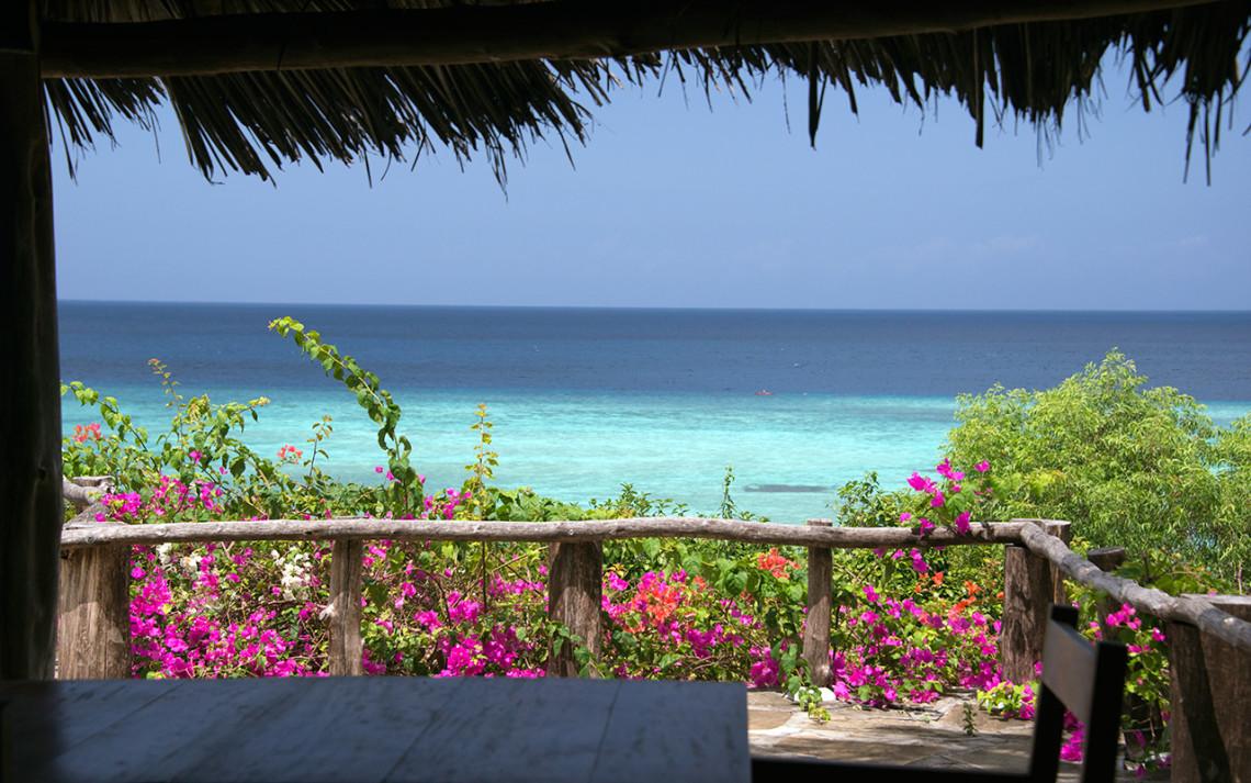 Underbar utsikt välkomnar oss på The Manta Resort