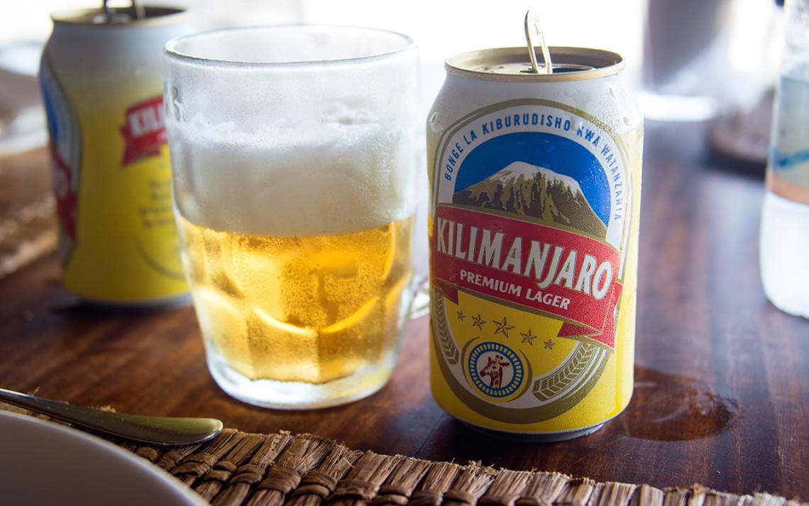 Kilimanjaro öl passar bra till lunchen