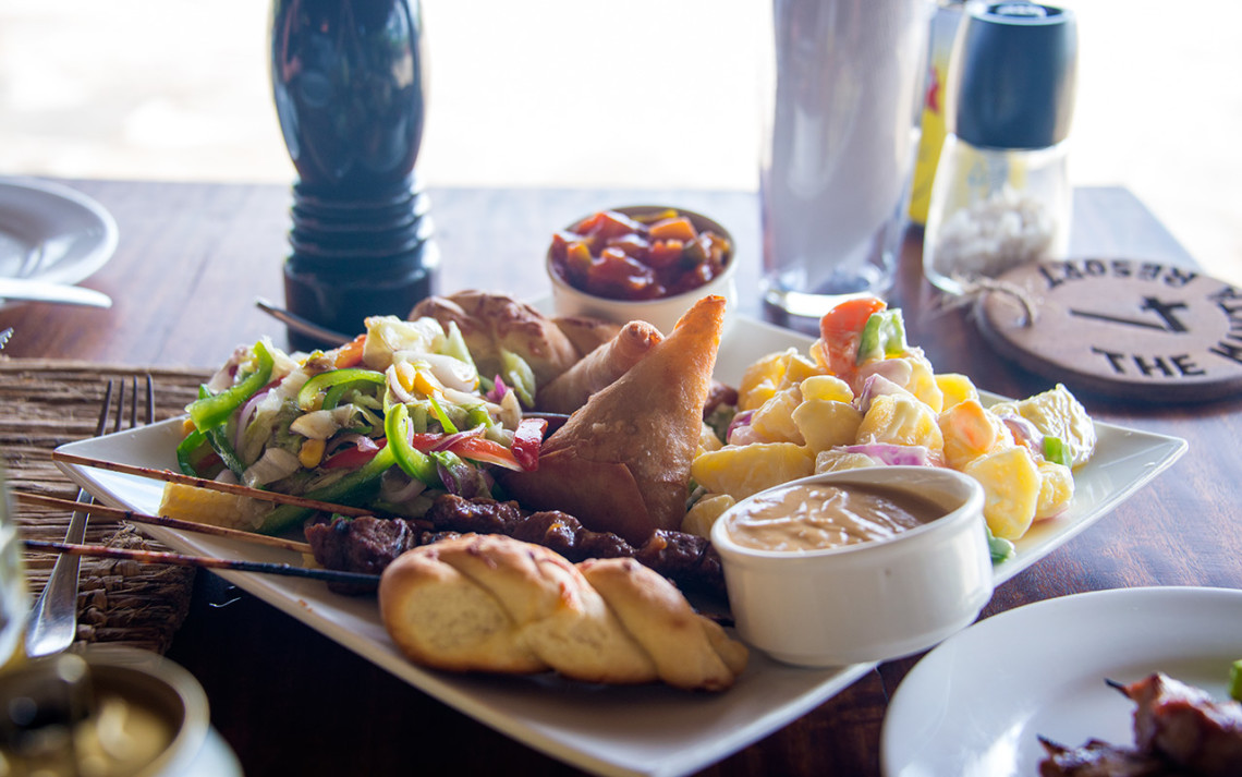 Lunch på Manta Resort - Pemba, Tanzania