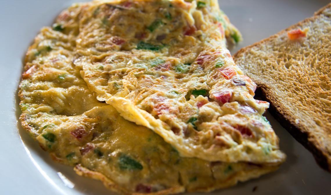 Omelett till frukost