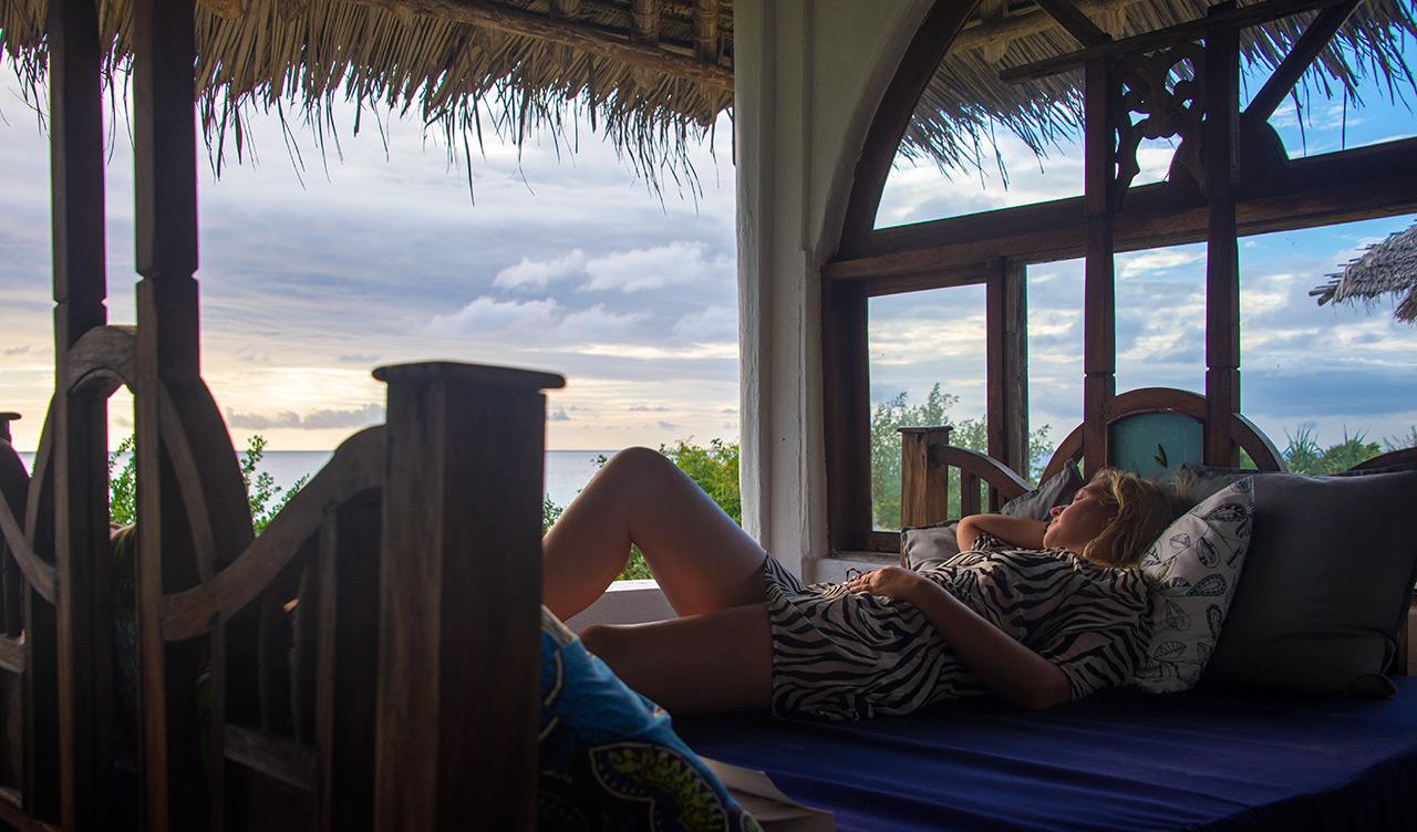 Bädden på balkongen till sea view villa är perfekt för total avkoppling med en underbar vy över havet och undervattensvillan