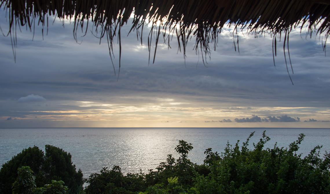 Vy från sea view villa på Manta Resort