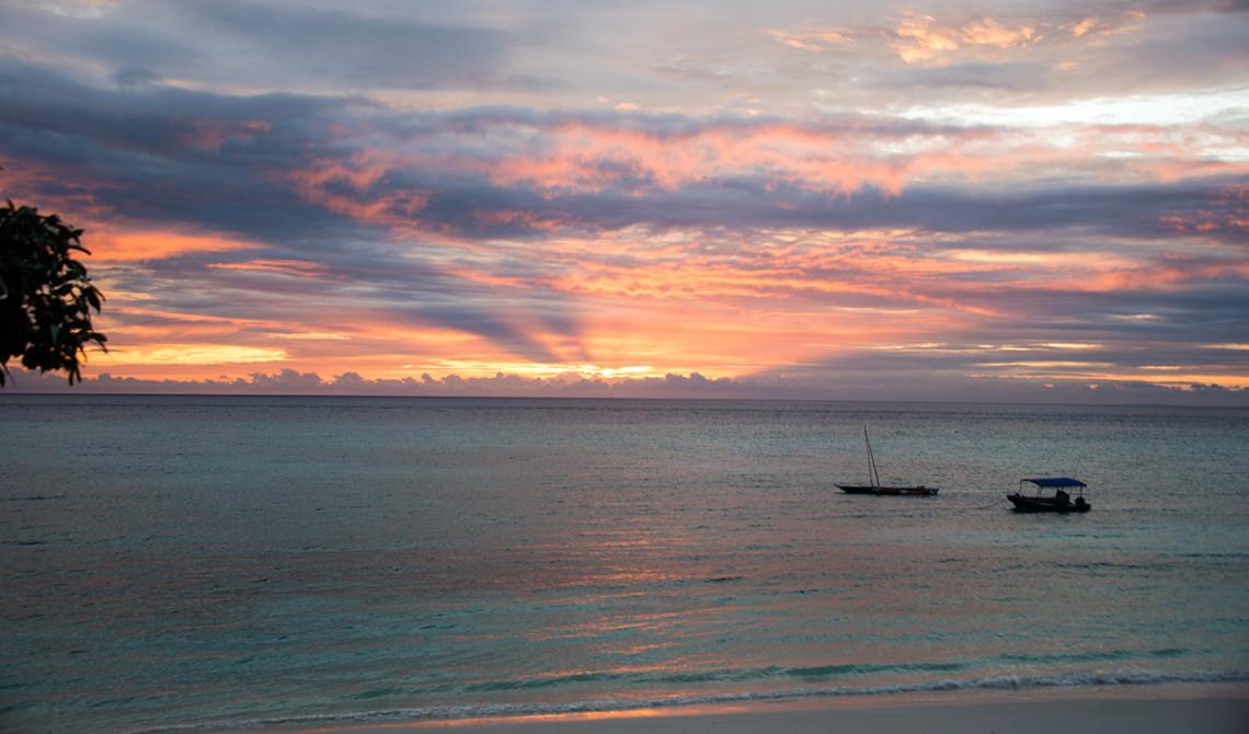 Färgsprakande solnedgång