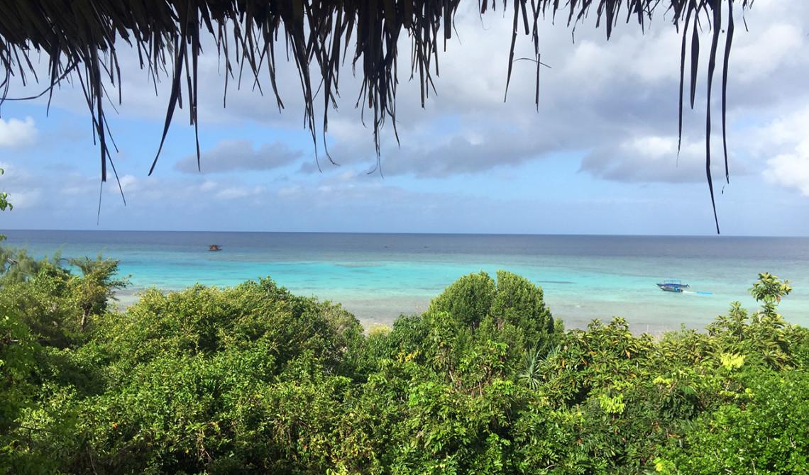 Morgon vy från vår sea villa, Manta Resort, Pemba Island