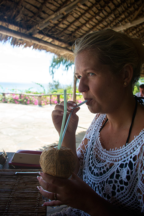 Kokosnöt till lunchen