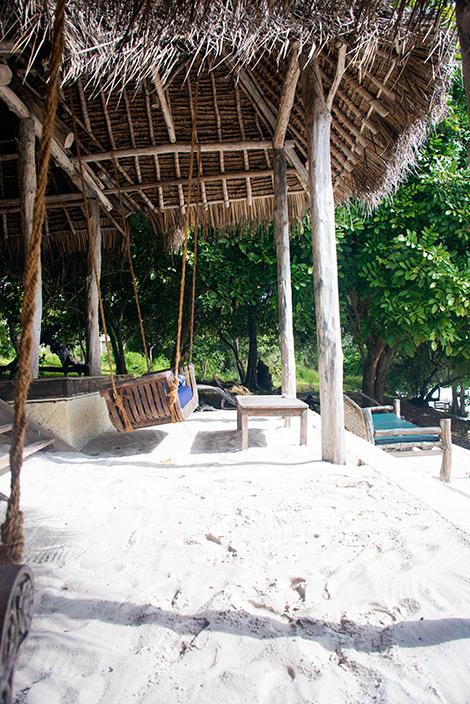 Strandbaren på Manta Resort