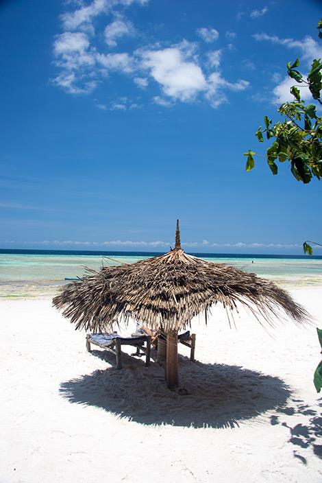 En perfekt plats på stranden