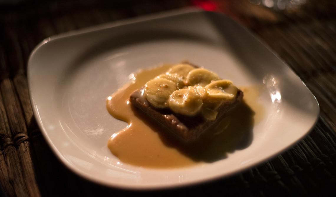Lokal dessert på Manta Resort