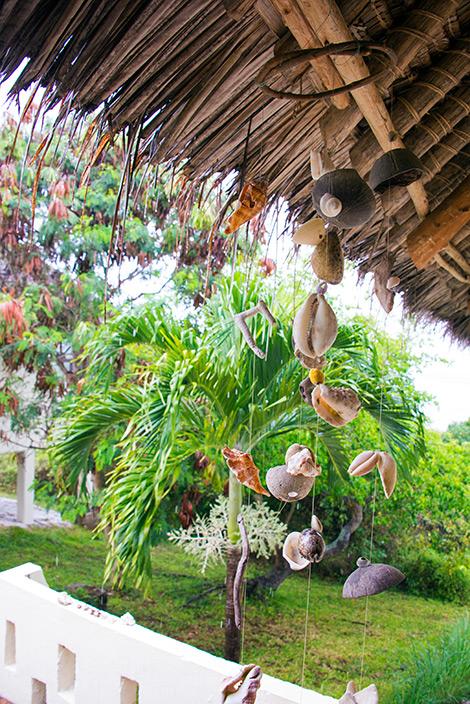 Regnväder över vårt boende på Manta Resort