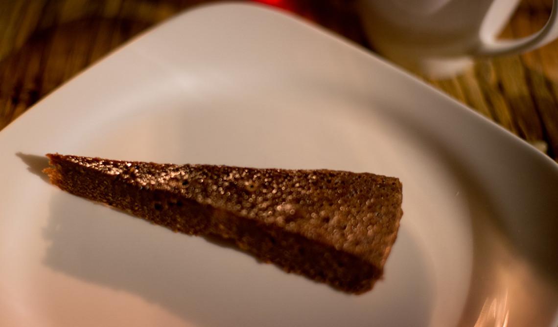 Chokladkaka till dessert, Manta Resort, Pemba