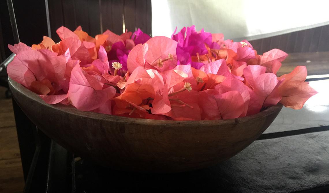 Altid vackra blommor att njuta av under spa behandlingen