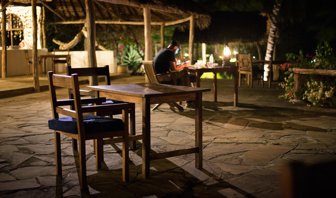 Kväll på Manta Resort