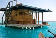 Undervattensrummet i vattnet utanför Manta Resort på Pemba