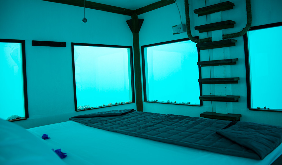Sovrum under vatten