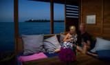 På en villa i havet med rum under ytan