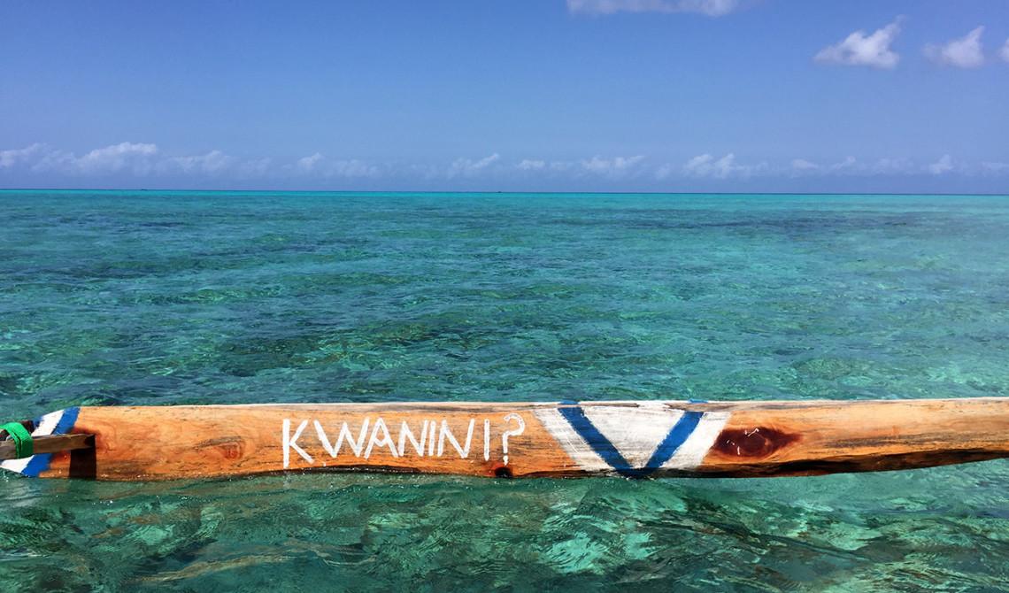 Kwanini är namnet på båten som tar oss ut till sandbanken