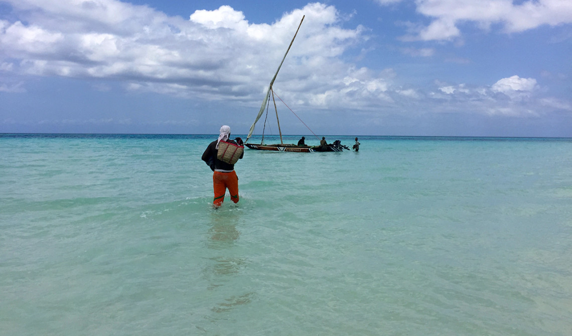 På väg tillbaka mot båten
