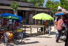 Vyer från en av byarna på Pemba