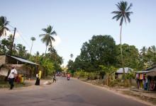 Längst med vägarna på Pemba