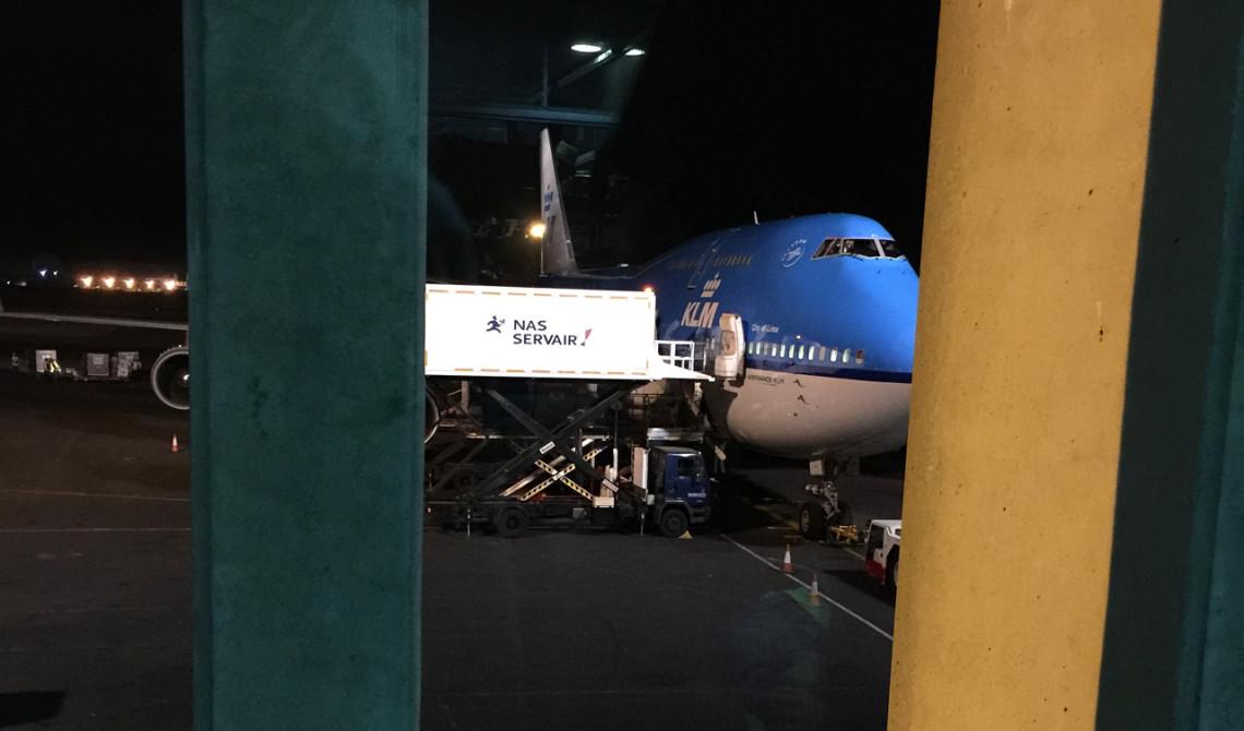 KLM planet som ska ta oss från Afrika till Europa