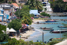 Vy över staden från Ti ' Paradis, Martinique