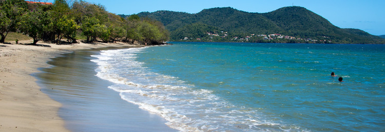 Strand nedanför Ti ' Paradis i Saint-Luce, på Martinique