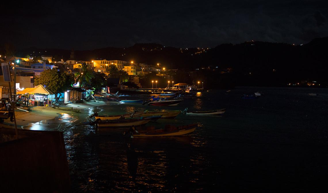 Utsikt över Sainte-Luce kvällstid