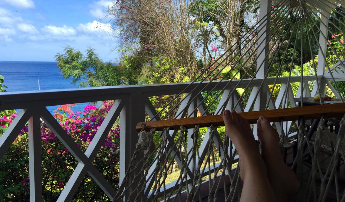Total avkoppling i hammocken på Ti Kaye Resort & Spa, Saint Lucia