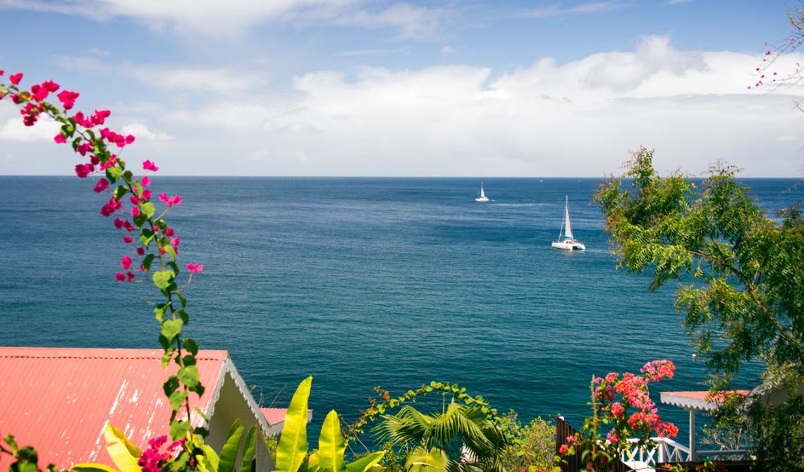 Havsutsikt från vår villa, Ti Kaye Resort & Spa, Saint Lucia