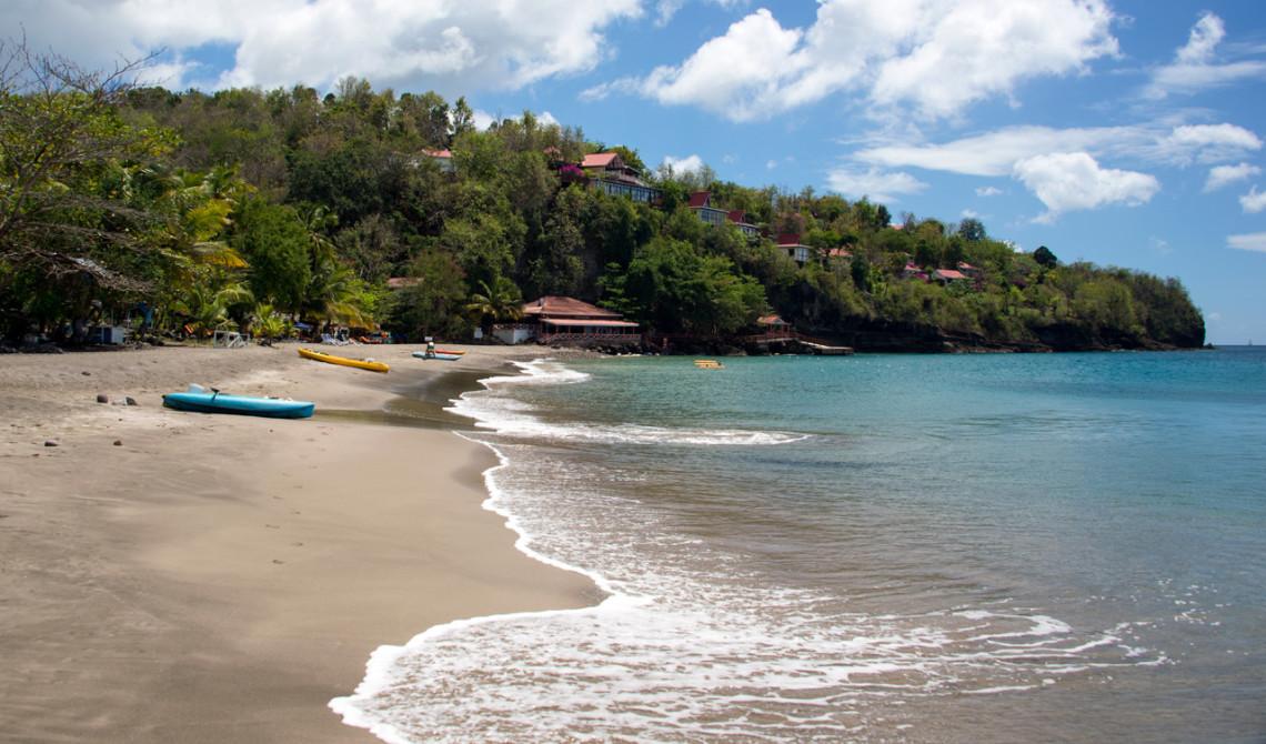 Vacker strandvy, Ti Kaye Resort & Spa, Saint Lucia