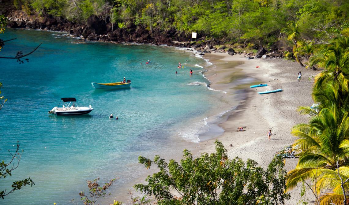 Utsikt över stranden till Ti Kaye Resort & Spa, Saint Lucia