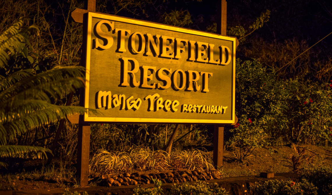 Infart till Mango Tree Restaurant och Stonefield Estate Resort, Soufrière, Saint Lucia