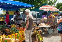 Marknad i Saint-Luce på Martinique