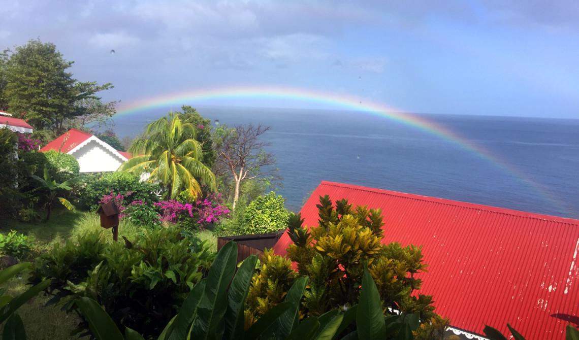 Regnbåge över Ti Kaye Resort & Spa, Saint Lucia