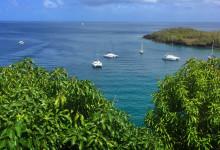 Vacker vy över hav och bukten vid Ti Kaye Resort & Spa, Saint Lucia