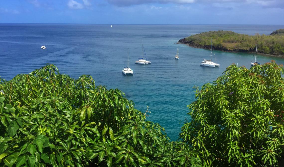 Utsikt över bukten från Ti Kaye Resort & Spa, Saint Lucia