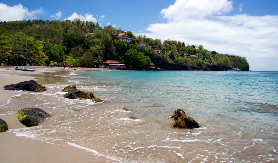 Stranden vid Ti Kaye Resort & Spa, Saint Lucia