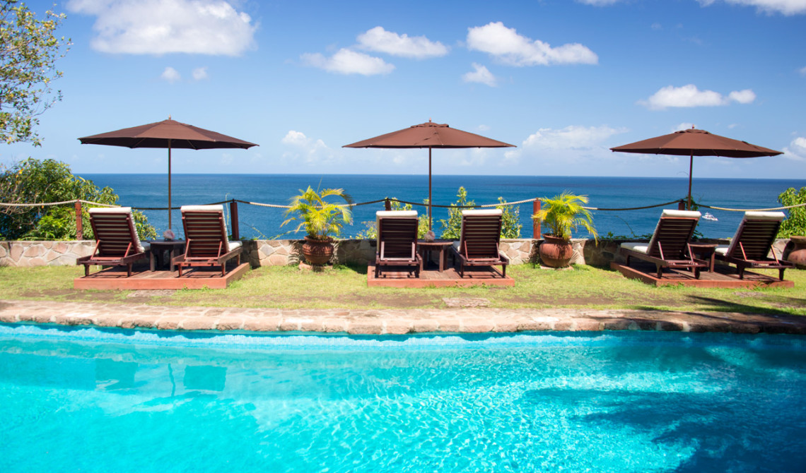 Poolarean vid Ti Kaye Resort & Spa, Saint Lucia