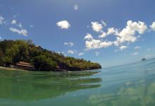 Vy från havet utanför Ti Kaye Resort & Spa, Saint Lucia