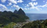 Längs Saint Lucias vackra västkust