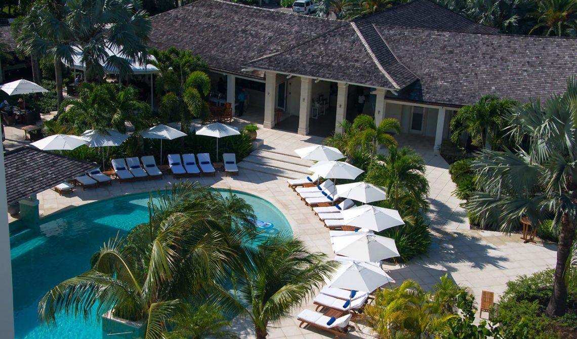 Poolen från ovan, West Bay Club Resort, Turks & Caicos